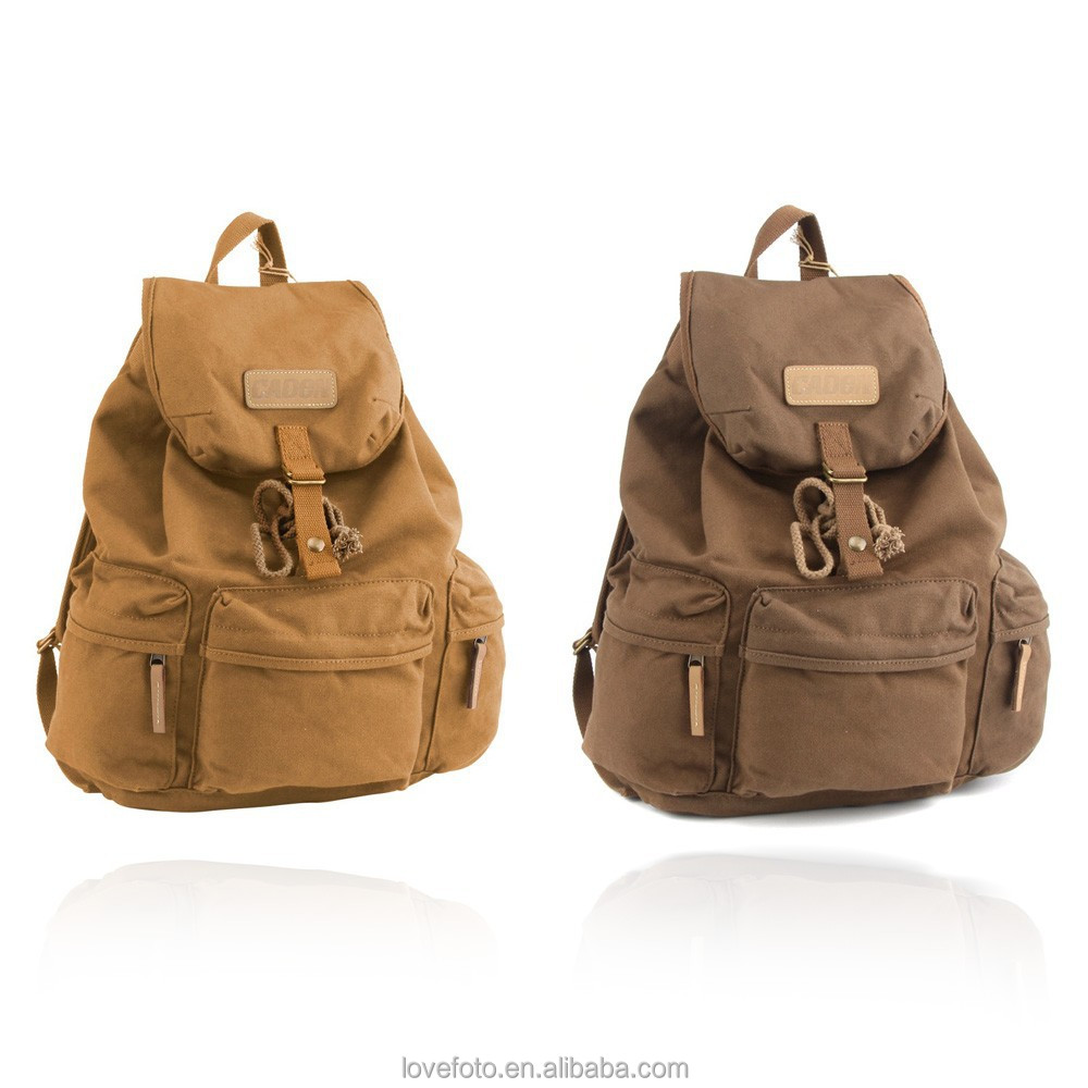 Travel Rucksack Caden Vintage Canvas Camera Bag Dslr Slr Backpack Travel Rucksack For Canon Nikon Khaki Buy Canvas Camera Bag For Dslr Backpack Khaki Camera