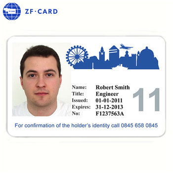 2014 Factory Made Plastic Sample Employee Id Cards - Buy Plastic