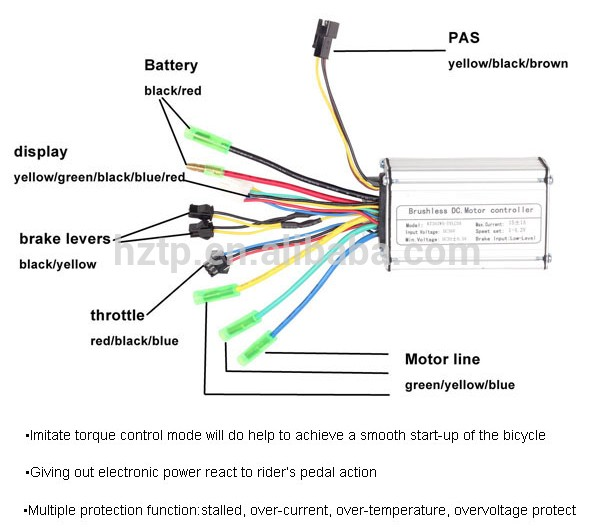 Electric Bike Controller 36v Wiring Diagramrhemailcanvasbr: E Bike Controller Wiring Diagram At Gmaili.net
