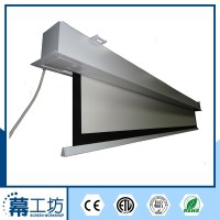 Ceiling Hanging Recessed Projector Screen with Remote ...