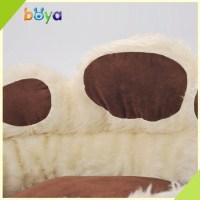 Wholesale Paw Shape Soft Fabric Round Luxury Dog Bed - Buy ...