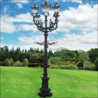 Garden Lamp Wrought Cast Iron Lamp Post For Sale - Buy ...