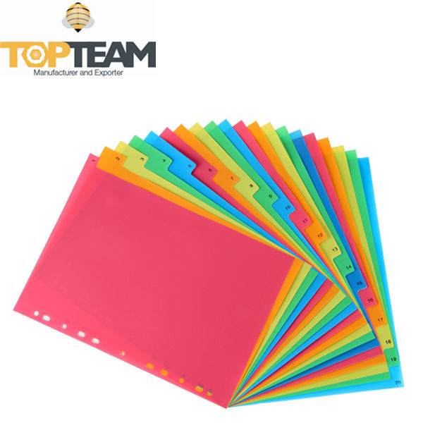 Pp 11 Holes Index Divider,Organizing Plastic Index Page,Stationery