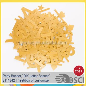 Make Your Own Word Diy Paper Hanging Letter Banner - Buy Diy