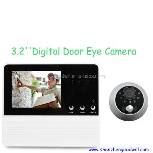 2014 Manufacturer 3.2 inch Good Night Vision Digital Door Spy Camera