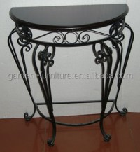 Iron Table,Half Round Console Table,Wrought Iron Indoor