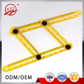 Multi-angle Ruler Template Tool Measures All Angles Forms Angle