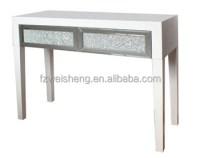 Diamond Crush 2 Drawer Console Table - White/black - Buy ...
