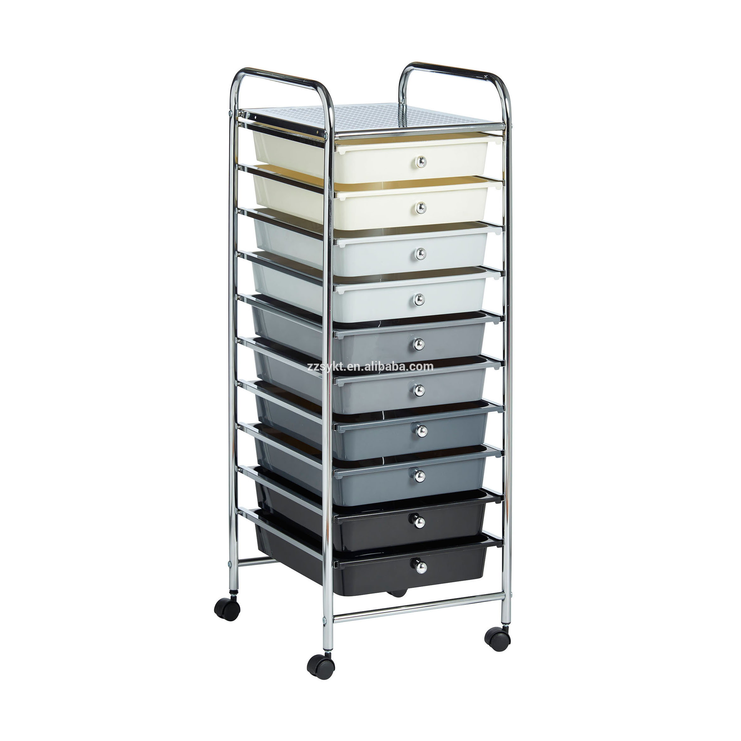 Beauty Trolleys 10 Plastic Drawers Rolling Hair Beauty Salon Storage Trolley Carts Buy Beauty Salon Trolleys Hair Salon Trolley Cart Metal Salon Trolley Product On