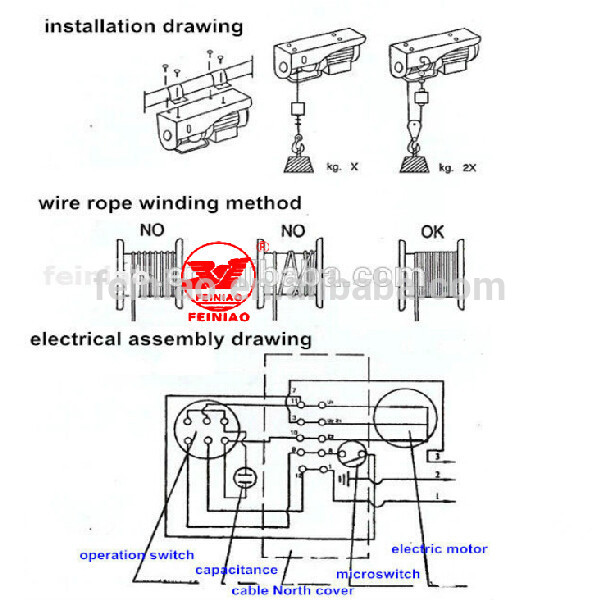 110 Volt Superwinch Wiring Diagram Pa Lifting Equipment Single Phase Wire Rope Motor Mini