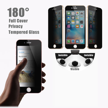 Full Cover Anti Spy Dark 2 Way 180 Degree Privacy Tempered Glass