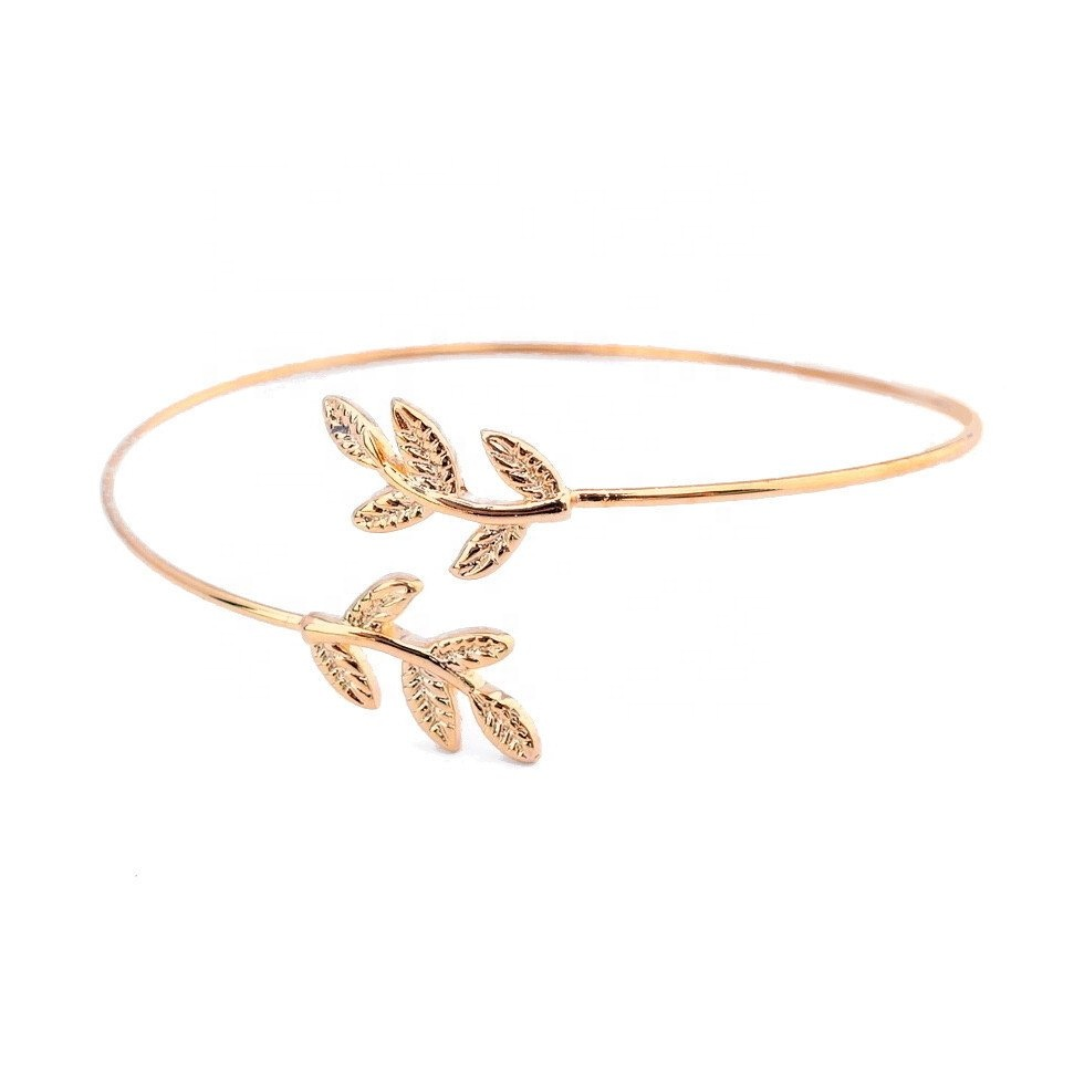 Wholesale Jewelry Gold Filled Fashion Women Jewellery Olive Leaf Gold Filled Bangle Wholesale Buy Gold Filled Bangle Gold Bangle Leaf Bangle Product On Alibaba