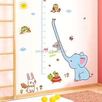 Cartoon Animals Elephant Owl Tortoise Children\u0027s Height Growth Chart