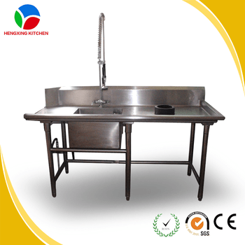 Commercial Stainless Steel Kitchen Sink Restaurant Used
