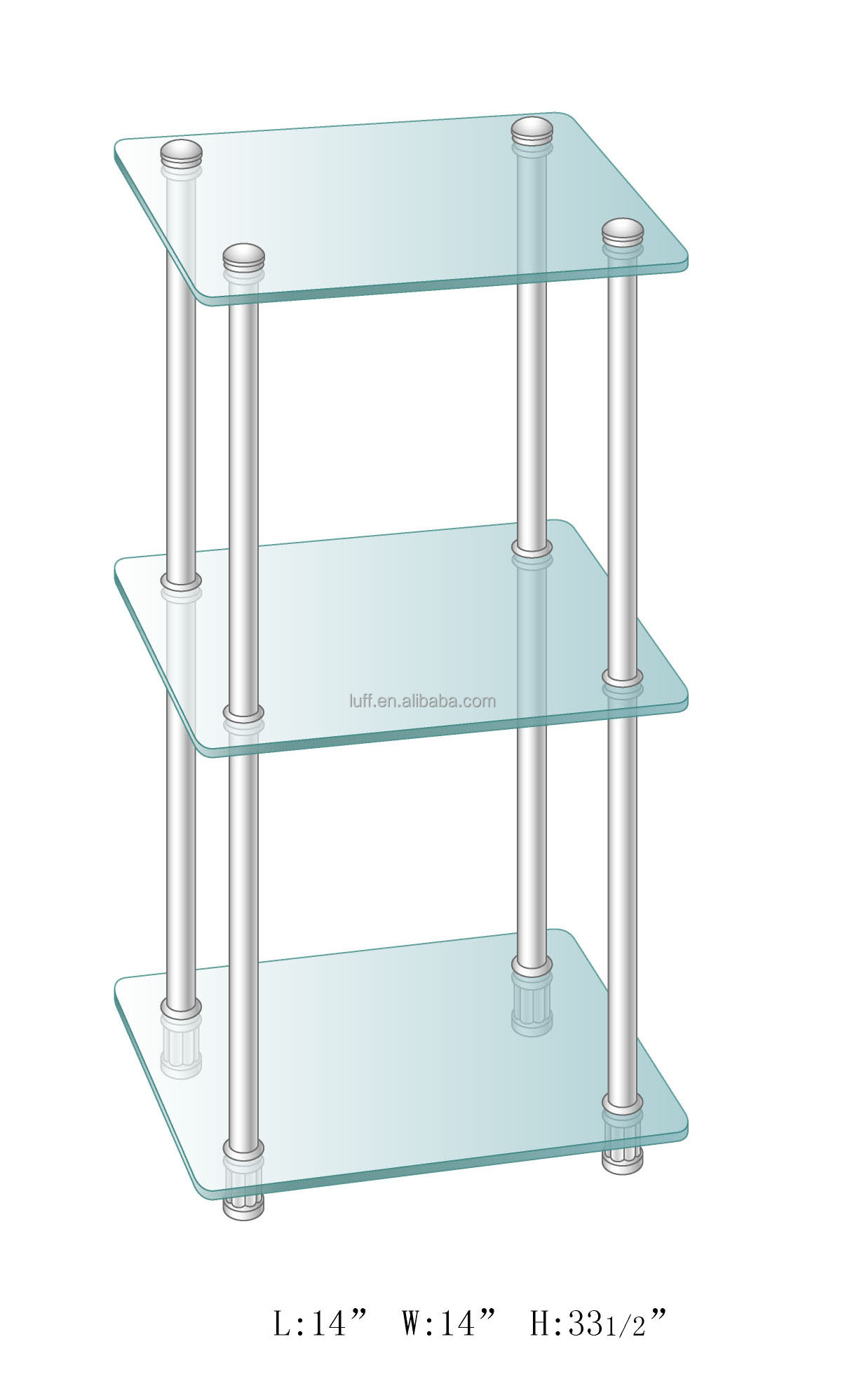 Etagere Metal Clear Tempered Glass Bathroom Storage Three Tiers Square Glass Shelves Metal Etagere Buy Metal Etagere Metal Corner Etagere Bathroom Shelf Product