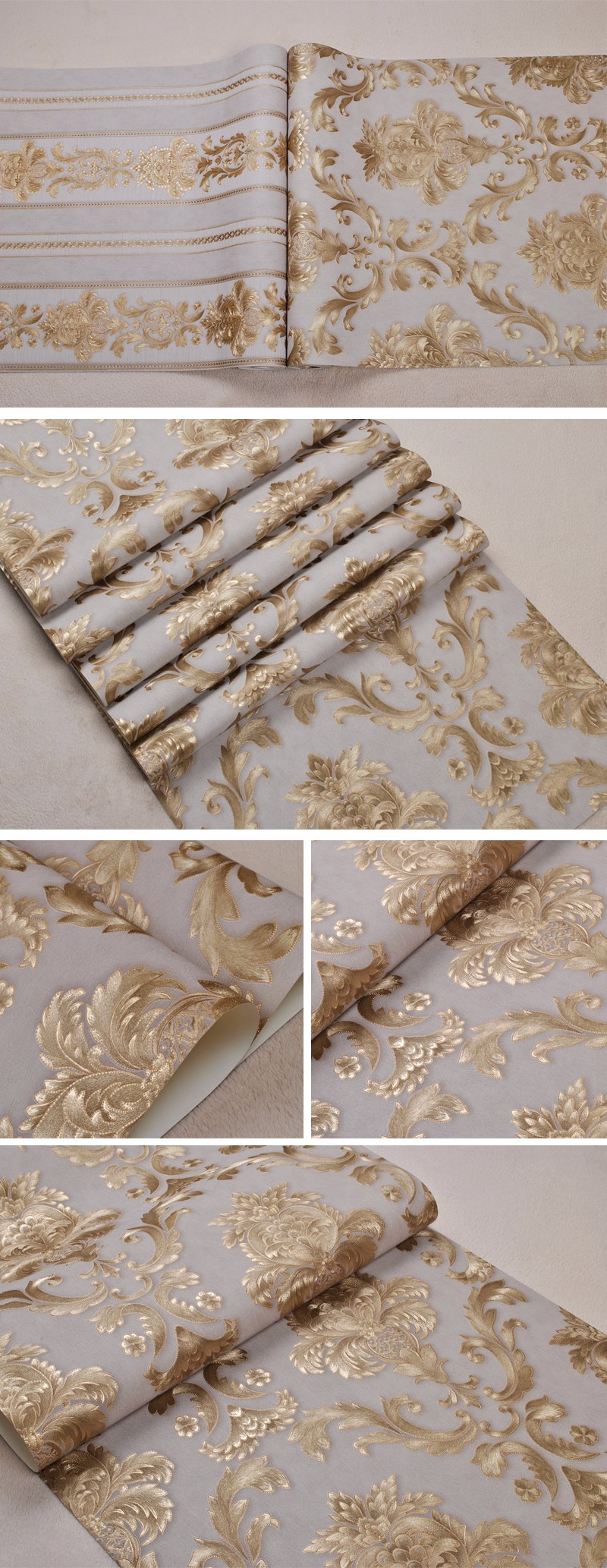 Metallic Gold Wallpaper Textured Vinyl Metallic Gold Damask Wallpaper Buy Wallpaper Product On Alibaba