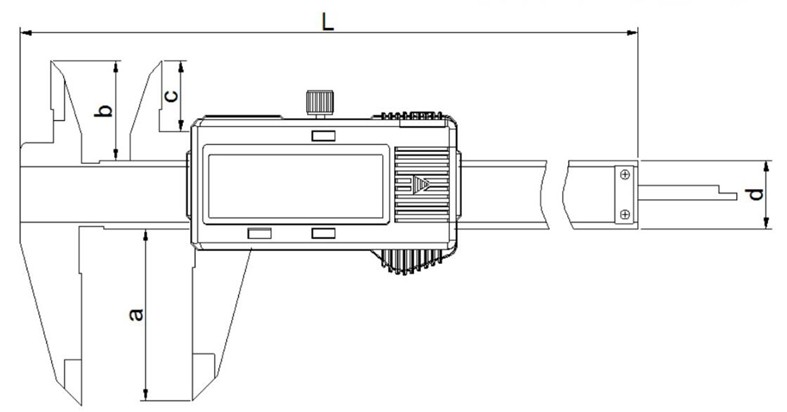 diagram of digital vernier caliper