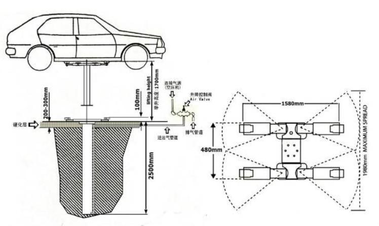 launch car lift schematic