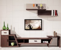 2015 New Design Living Room Modern Corner Wooden Tv