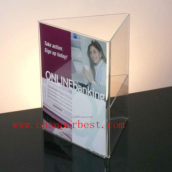 clear acrylic tri-fold sign holder table tent, View acrylic sign - tri fold table tent