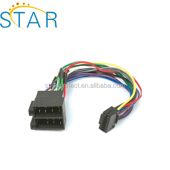 Factory Hot Sale Kenwood Iso 16 Pin Stereo Wiring Harness For Car