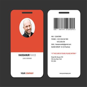 Norway Employee Id Card Sample For The Staff Information System - sample id cards