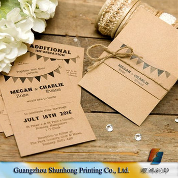 Elegant Oem Printing Wedding Invitation Cards Rsvp Card Set - Buy