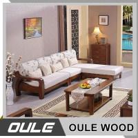 2017 New Modern Design Exposed Solid Wooden Frame Living ...