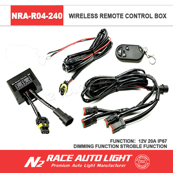 Led Bar Light Work Light Remote Strobe Control Wiring Harness Kits