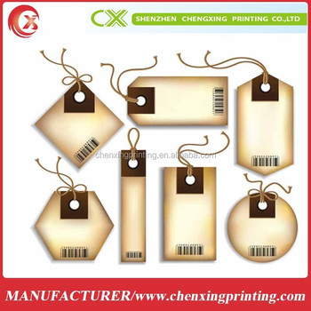 NEW DESIGN Die Cut Paper Gift Tags, Hang Tags, Favor Tags garment