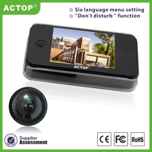 ACTOP Hot Sale 3.5 Inch Color TFT Display Six Language Video Door Peephole Camera