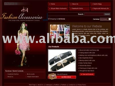Garments Website Designing,Template Based Website Development