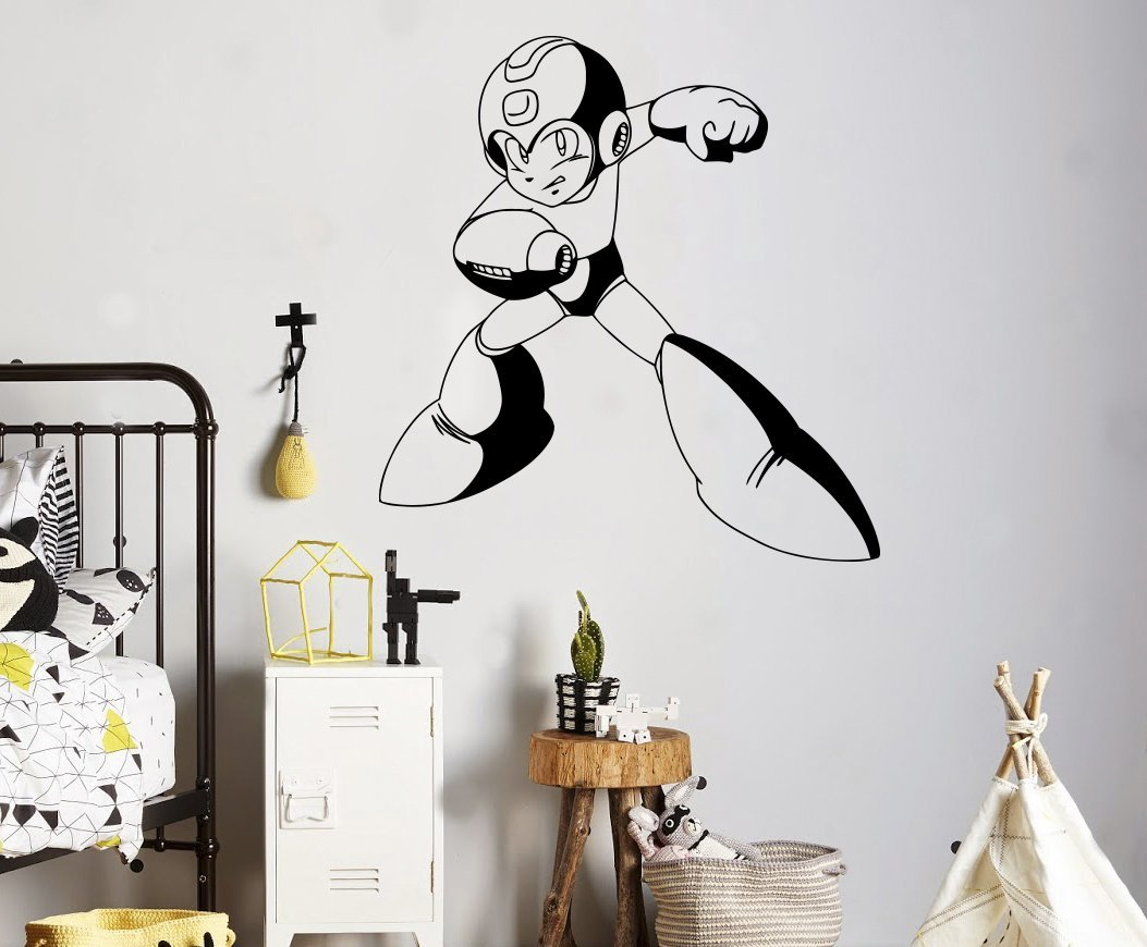 Home Interior Kids Buy Mega Man Wall Decal Video Game Superhero Wall Vinyl Sticker