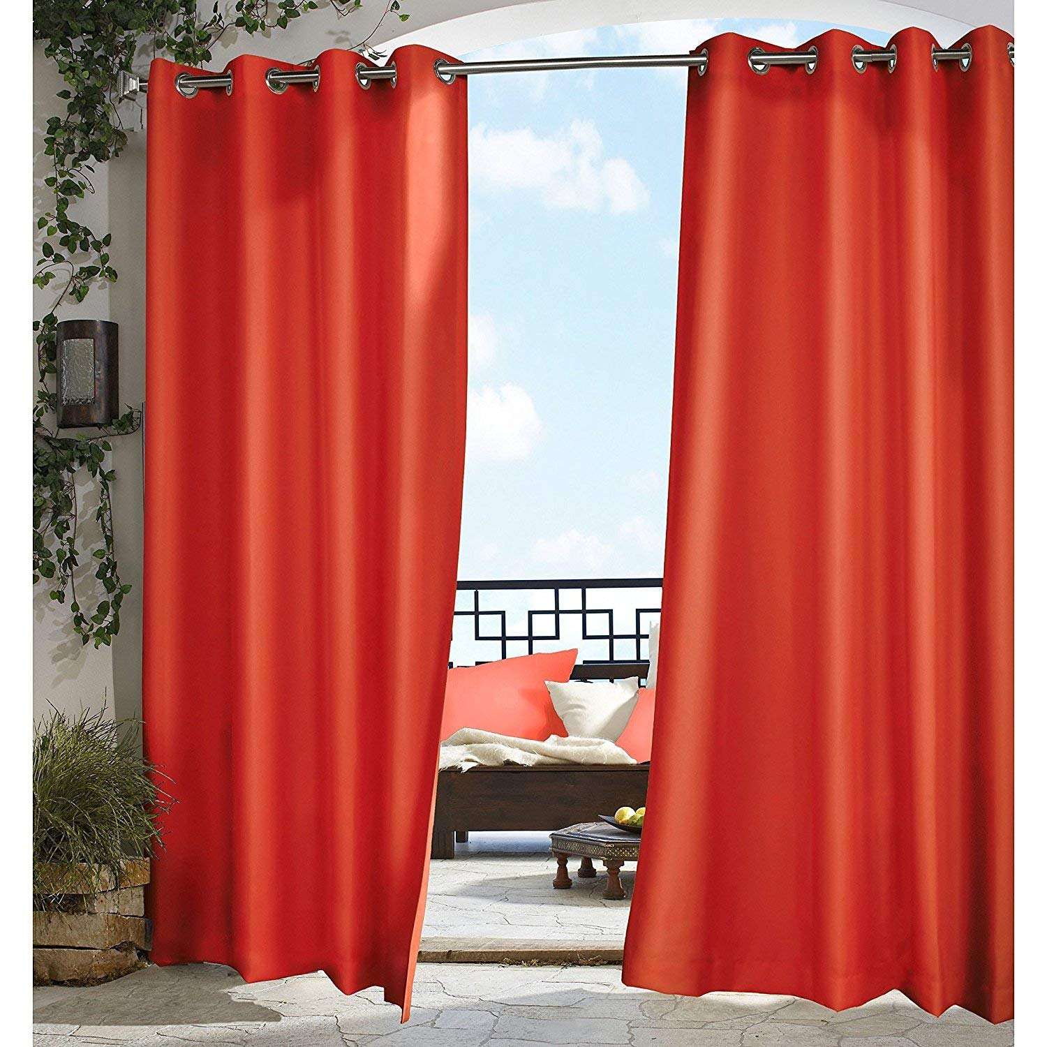 Orange Curtain Panels Cheap Orange Curtain Panel Find Orange Curtain Panel Deals On