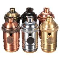 E26/ E27 Solid Brass Industrial Light Socket Vintage ...