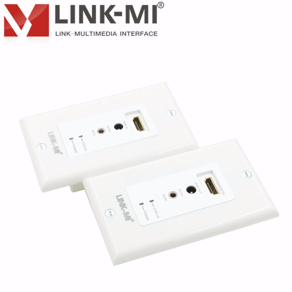 Hdmi Outlet Lm Ew04 50m Hdmi 1 3 Hdcp 1 1 Rj45 Wall Outlet Hdmi Wall Plate Extender Over Cat5 6 With Ir Control Buy Rj45 Wall Outlet Hdmi Wall Plate