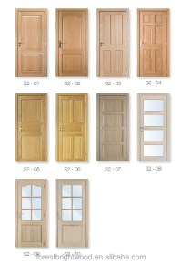 6 Panel White Oak Pre-finished European Wooden Door Design ...