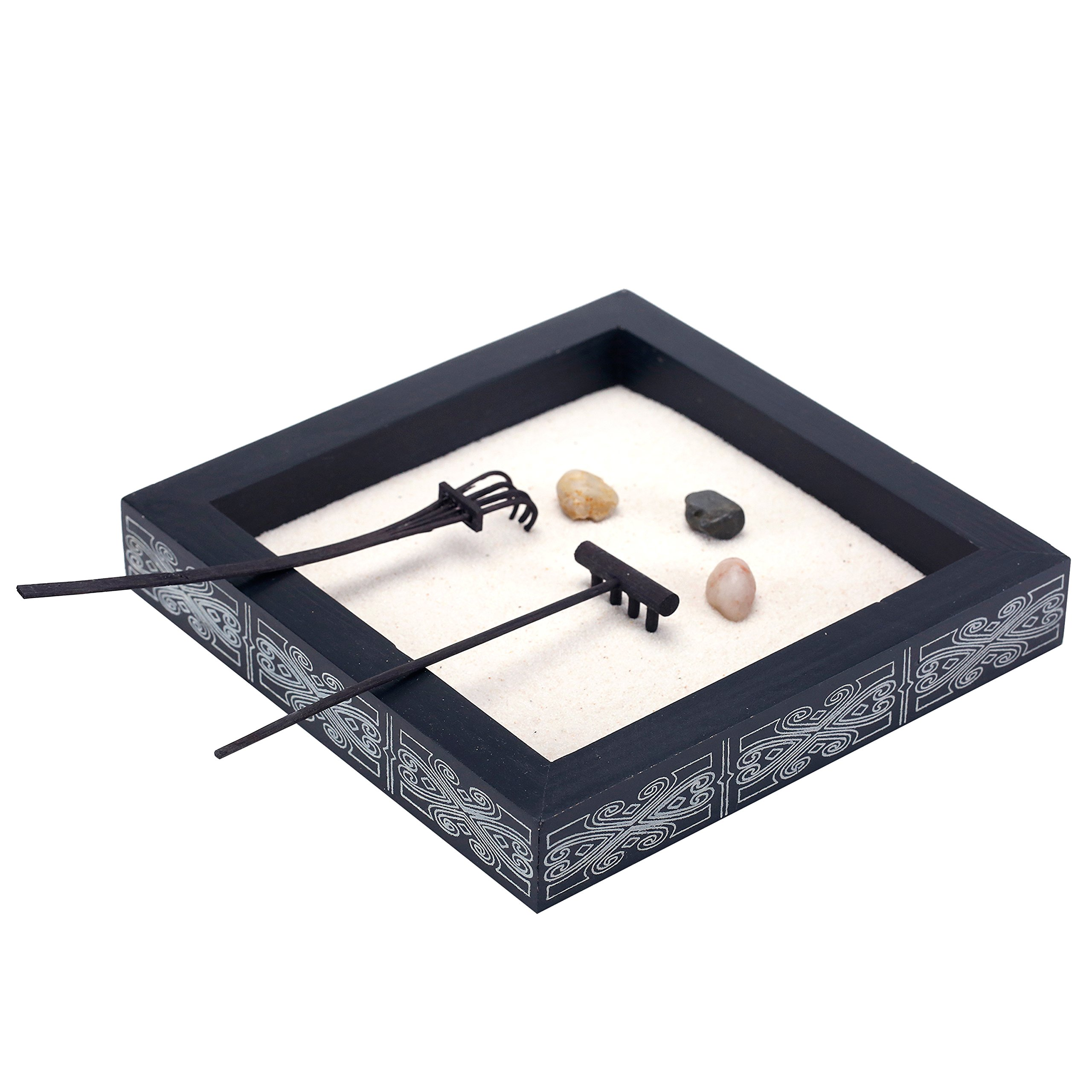 Table Top Zen Garden Buy Minimalist Tabletop Zen Garden Kit With Stones And Rakes In