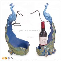 Resin Peacock Animal Wine Bottle Holders - Buy Wine Holder ...