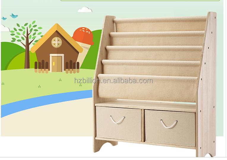 Beliebte Kindergarten Holz Kinder Leinwand Bucherregal Mit
