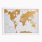Scratch the World scratch off places you travel map print detailed cartography 33.11 x 23.39 inches