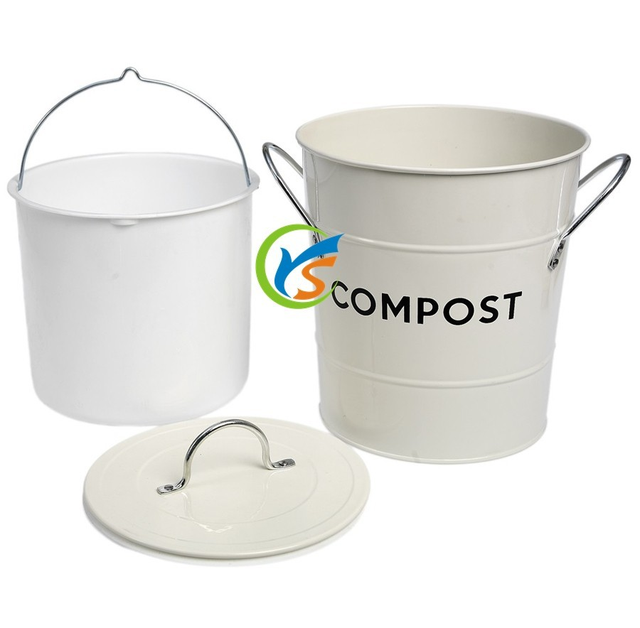 Compost Maken Keuken Gegalvaniseerd Metaal Keuken Compost Bin Met Plastic Binnenzak Buy Keuken Compost Bin Metalen Compostbak Compostbak Met Plastic Binnenzak Product On