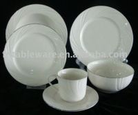 embossed white porcelain dinnerware dinnersets, View ...
