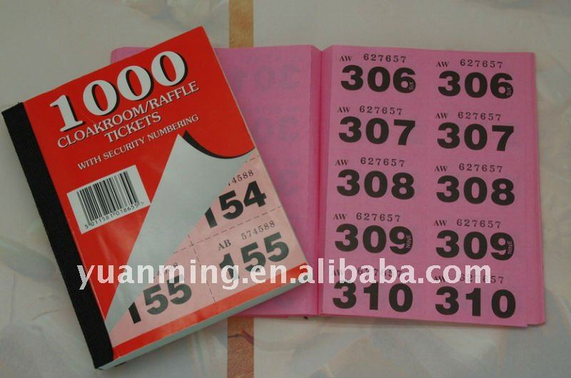 Raffle Ticket, Raffle Ticket Suppliers and Manufacturers at Alibaba