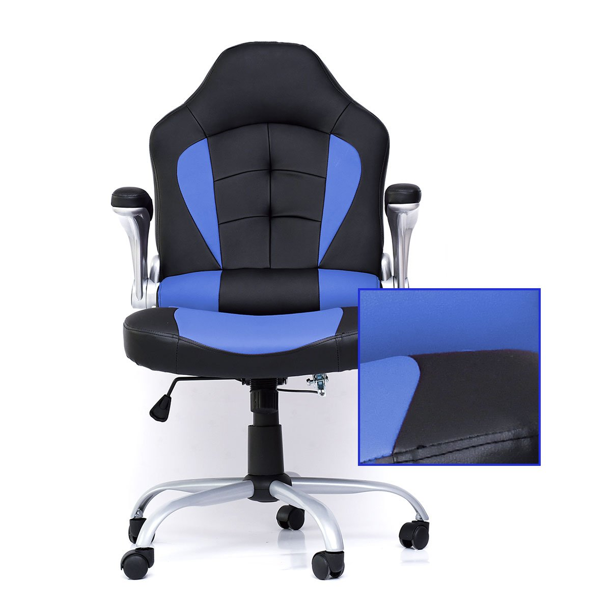 Computer Chair Ergonomically Correct Zoyo Office Chair High Back Racing Computer Chair Ergonomic Gaming Racer Chair Blue
