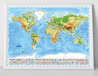2017 New Style Personalized Scratch Off Map world Poster with Patent