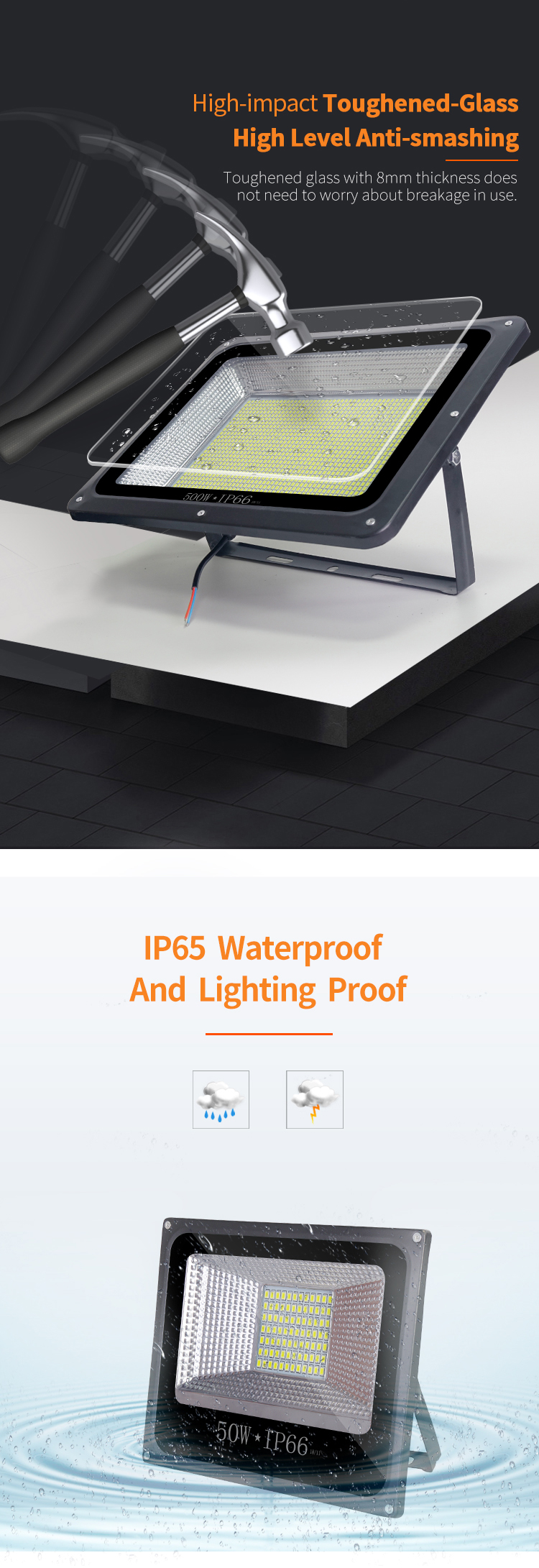 Jindian High Power Cold White Ip66 500w 42 33cm Led Flood Light View Led Flood Light Ux Ux Product Details From Zhongshan Ymf Lighting Co Ltd On Alibaba Com