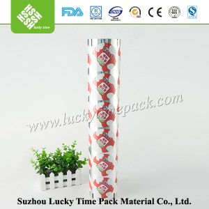 plastic coated aluminium foil in roll