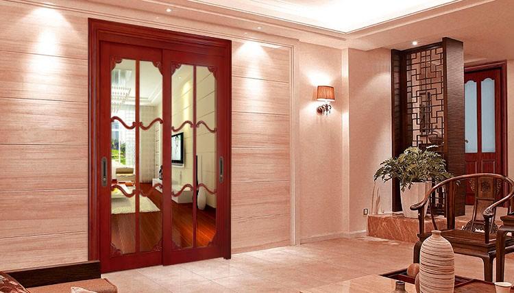 Madera Moderno Vidrio Puertas Corredizas Modelo Plegable Vidrio - Modelo De Puertas Corredizas