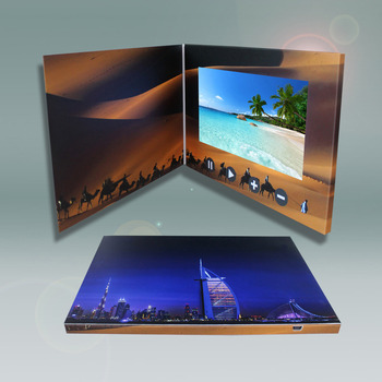Promotional Marketing Video Brochure Lcd Player Video Business Gift - marketing brochure